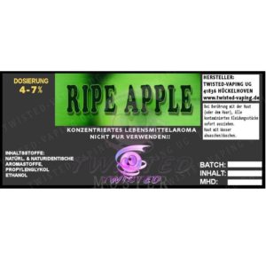 TWISTED 10ML - RIPE APPLE