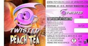 TWISTED 10ML - PEACH TEA
