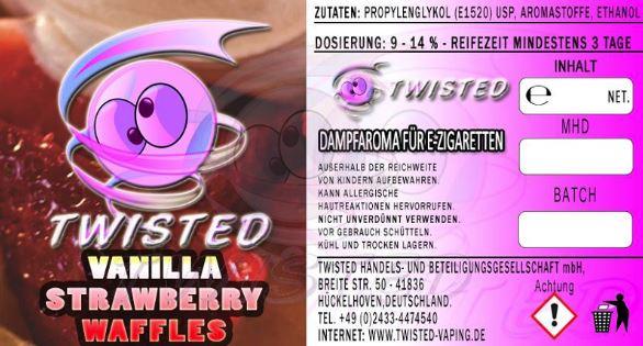 TWISTED 10ML - VANILLA STRAWBERRY WAFFLES