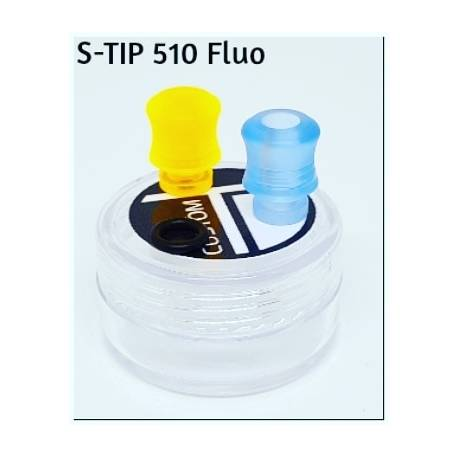 S-Tip L 510 in delrin Giallo Fluo foro 4mm by TDCustom