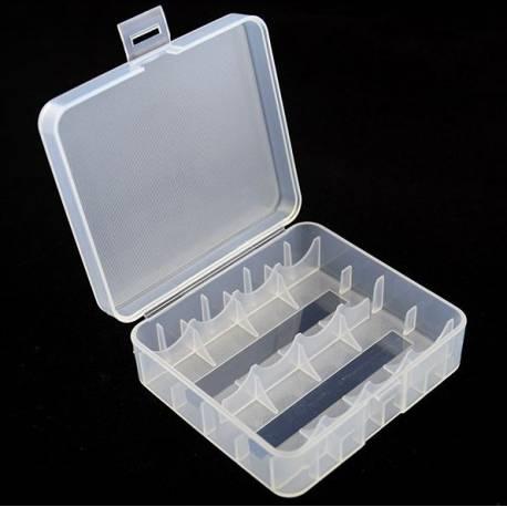 Scatola di plastica per per 4x 18650 o 2x 26650