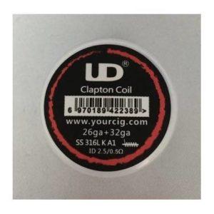 UD SS316 * KA1 26GA+32GA CLAPTON COIL 0.5OHM 10PZ