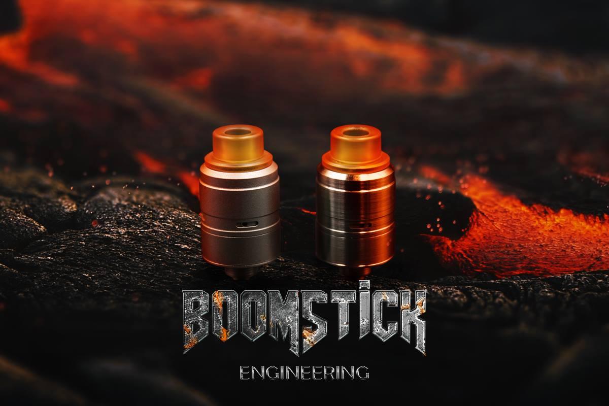 Boomstick RDA – Boomstick Engineering Full Kit - Brushed