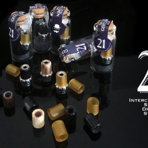 21 Drip Tip by The Vaping Gentlemen - con Sleeve in Ulivo