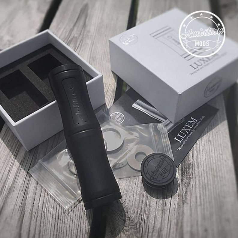 LUXEM TUBE MOD 18350/18650 - AMBITION MOD - Black