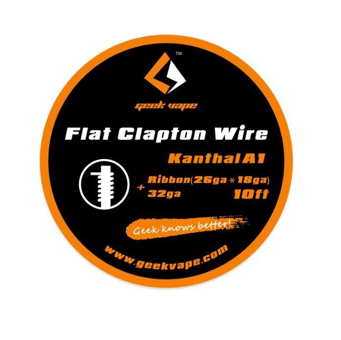 FLAT CLAPTON WIRE KANTHAL A1 ribbon (26ga*18ga)+32ga - Geek Vape