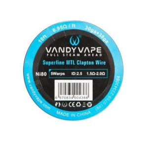 Ni80 SUPERFINE MTL CLAPTON WIRE - VANDY VAPE WIRE