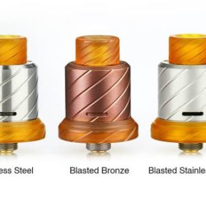 BOOMSTICK ENGINEERING - REAPER 18MM MTL RDA - COLORE Blasted Stainless Steel