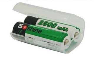 Contenitore per 2 batterie ricaricabili 14500
