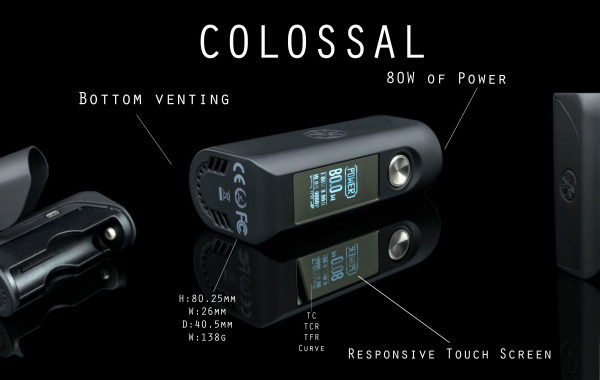 Colossal 80w - Asmodus - colore Black