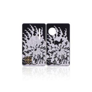 Coppia di Sportellini Chrysanthemum per dotAIO - dotMod colore black
