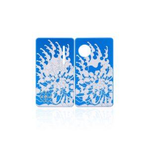 Coppia di Sportellini Chrysanthemum per dotAIO - dotMod colore blue