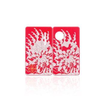 Coppia di Sportellini Chrysanthemum per dotAIO - dotMod colore red